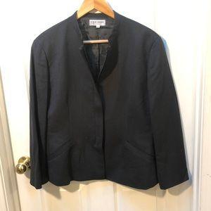 Giorgio Armani Black Zip blazer